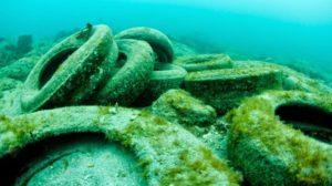 Риф из покрышек фото