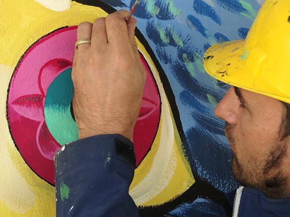 эко-граффити, которое очищает воздух