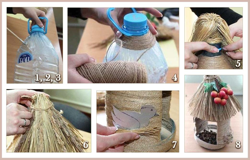 кормушка для птиц из пластика