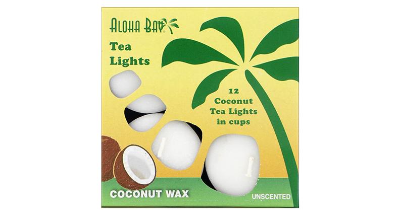 Aloha Bay, Восковые кокосовые свечи, без запаха.