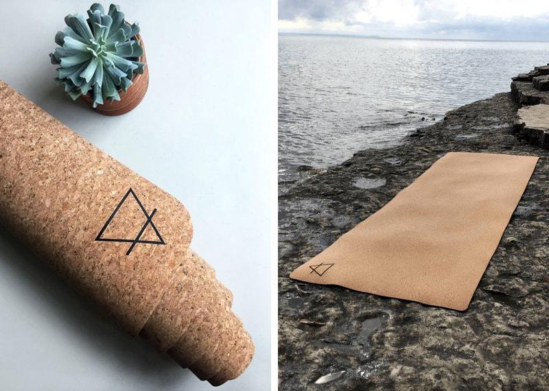 пробковый эко-коврик для йоги