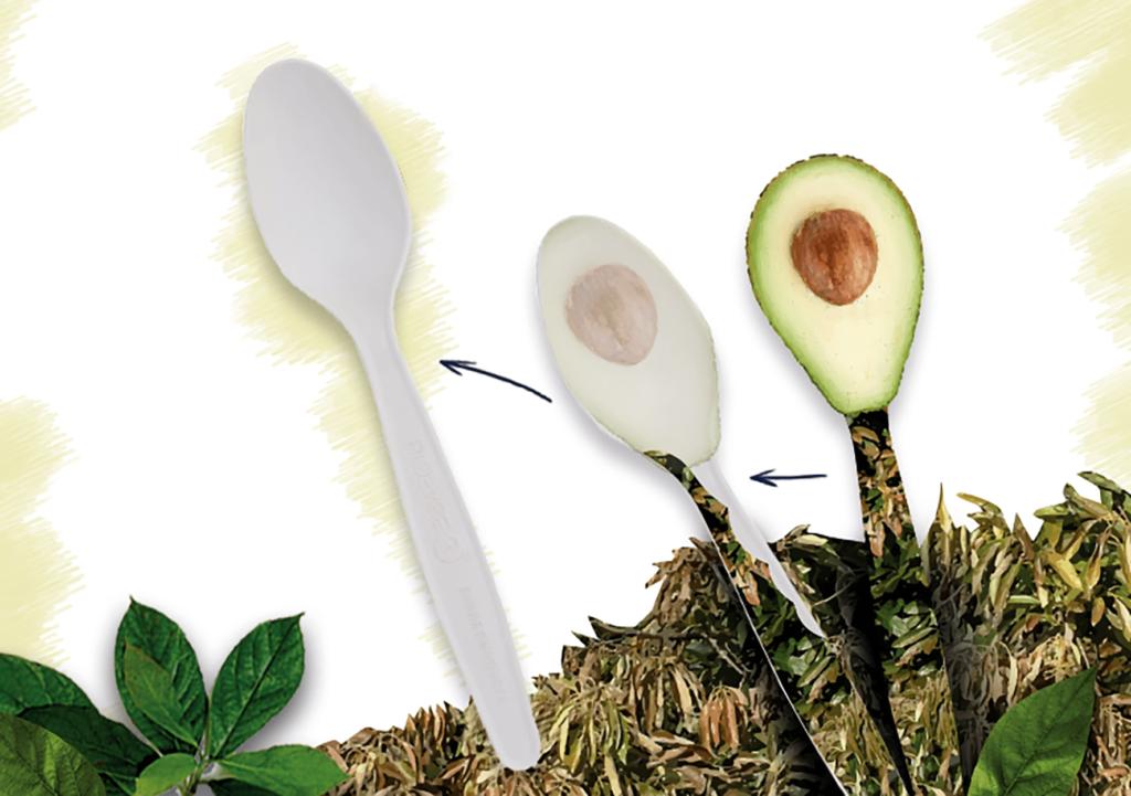 одноразовые стловые приборы из косточек авокадо